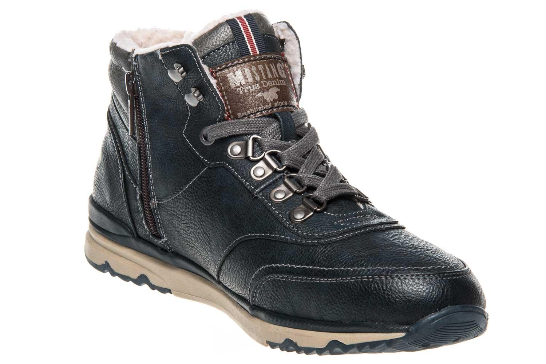 Mustang Shoes High Top Sneaker in Übergrößen Navy 4095-602-820 große Herrenschuhe – Bild 5