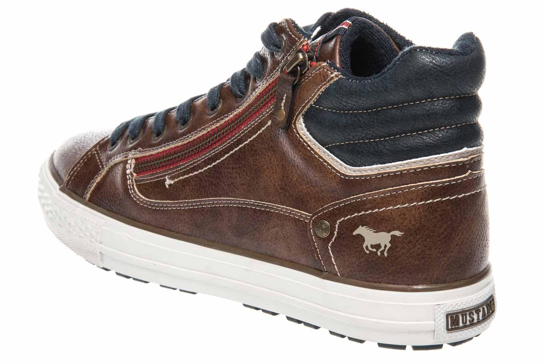 Mustang Shoes High Top Sneaker in Übergrößen Braun 4129-502-3 große Herrenschuhe – Bild 2