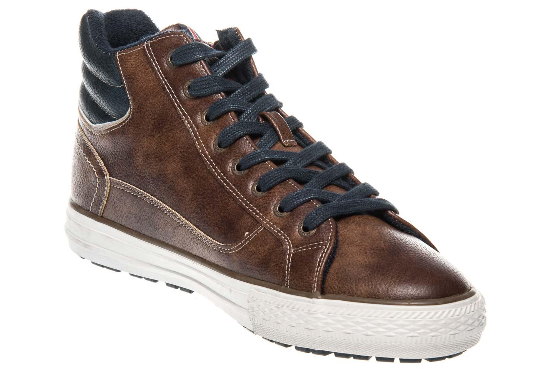 Mustang Shoes High Top Sneaker in Übergrößen Braun 4129-502-3 große Herrenschuhe – Bild 5