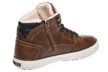 Mustang Shoes High Top Sneaker in Übergrößen Kastanie 4129-601-301 große Herrenschuhe – Bild 3
