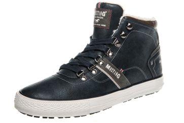 Mustang Shoes High Top Sneaker in Übergrößen Navy 4129-601-820 große Herrenschuhe – Bild 1