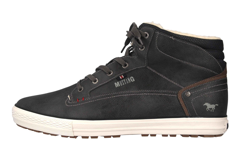 Mustang Shoes High Top Sneaker in Übergrößen Dunkelgrau 4129-602-20 große Herrenschuhe – Bild 1