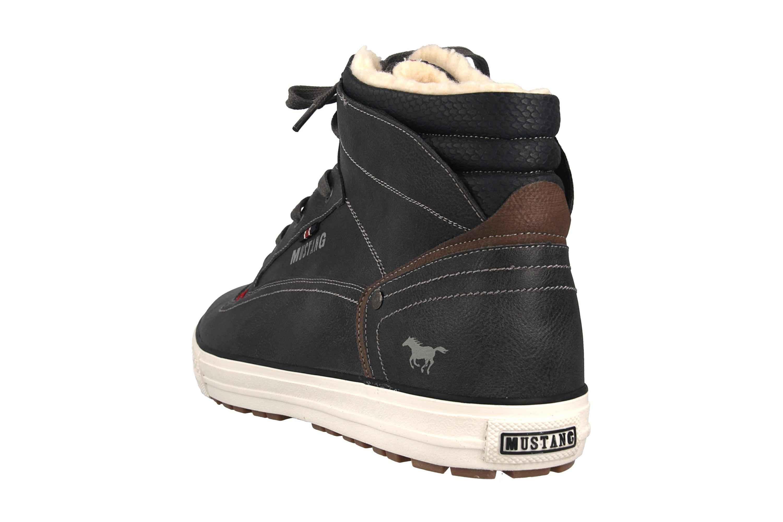 Mustang Shoes High Top Sneaker in Übergrößen Dunkelgrau 4129-602-20 große Herrenschuhe – Bild 2