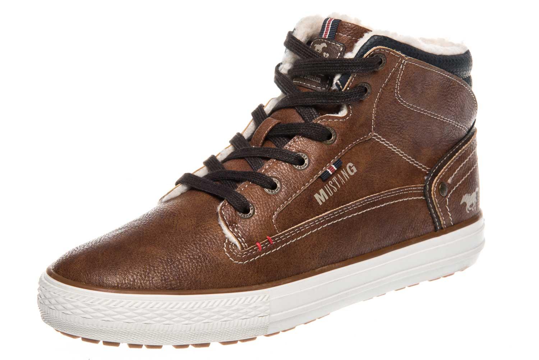 Mustang Shoes High Top Sneaker in Übergrößen Kastanie 4129-602-301 große Herrenschuhe – Bild 1