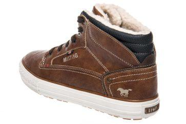 Mustang Shoes High Top Sneaker in Übergrößen Kastanie 4129-602-301 große Herrenschuhe – Bild 2