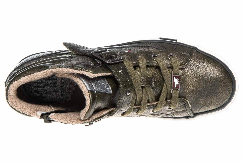 Mustang Shoes  High Top Sneaker in Übergrößen Oliv 1146-523-77 große Damenschuhe – Bild 7