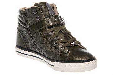 Mustang Shoes  High Top Sneaker in Übergrößen Oliv 1146-523-77 große Damenschuhe – Bild 5