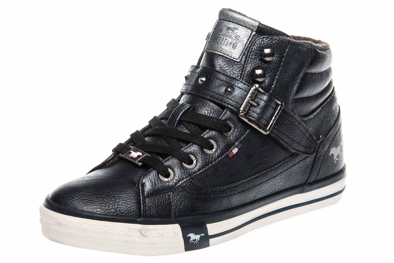 Mustang Shoes  High Top Sneaker in Übergrößen Navy 1146-523-820 große Damenschuhe – Bild 1