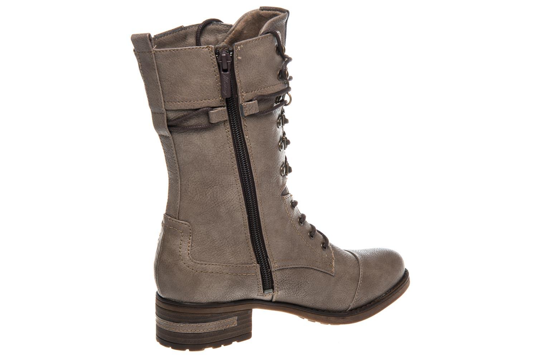 Mustang Shoes  Stiefeletten in Übergrößen Taupe 1229-509-318 große Damenschuhe – Bild 3