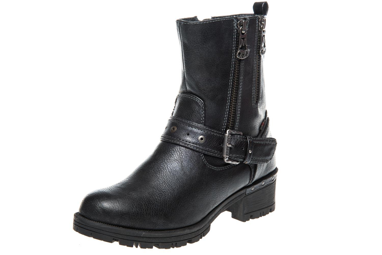 Mustang Shoes Boots in Übergrößen Navy 1283-502-820 große Damenschuhe – Bild 1