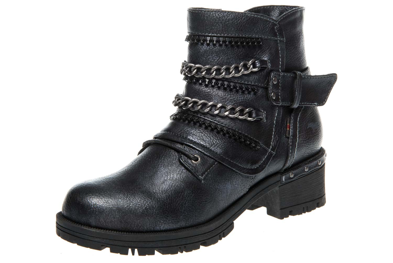 Mustang Shoes Boots in Übergrößen Navy 1283-503-820 große Damenschuhe – Bild 1