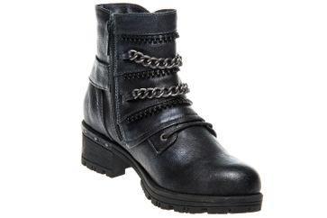 Mustang Shoes  Boots in Übergrößen Navy 1283-503-820 große Damenschuhe – Bild 5