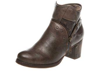 Mustang Shoes  Stiefeletten in Übergrößen Kaffee 1286-501-306 große Damenschuhe – Bild 1