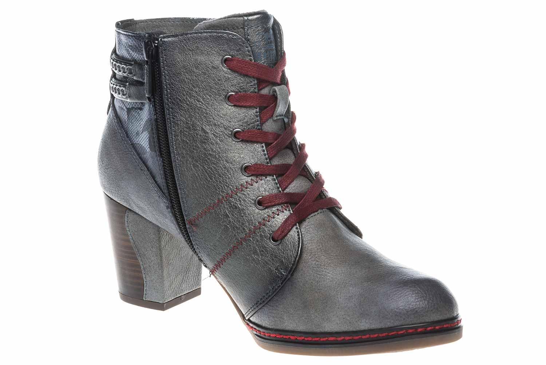 Mustang Shoes  Stiefeletten in Übergrößen Grau 1287-504-2 große Damenschuhe – Bild 6