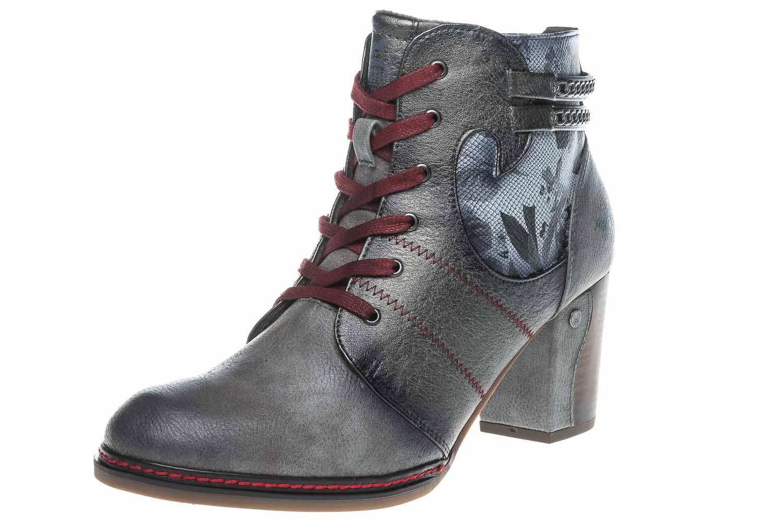 Mustang Shoes Stiefeletten in Übergrößen Grau 1287-504-2 große Damenschuhe – Bild 1