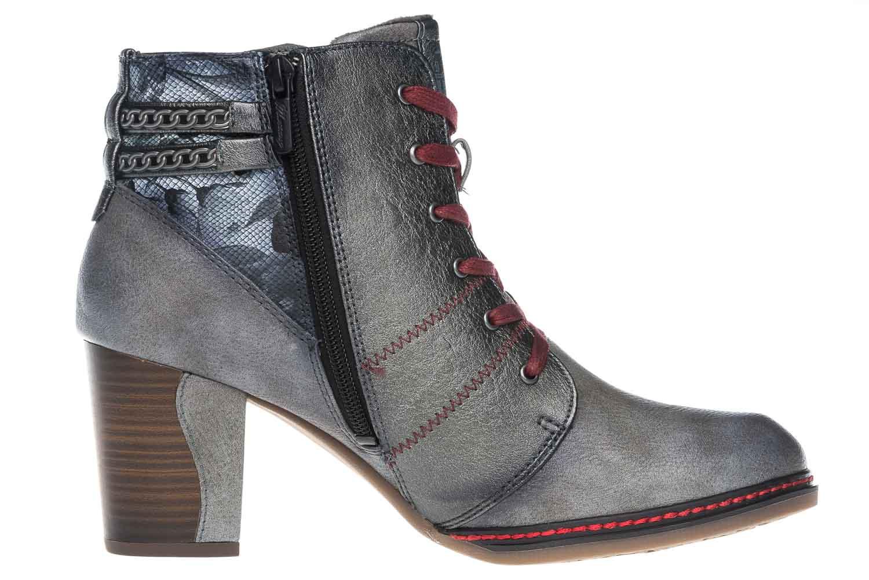 Mustang Shoes Stiefeletten in Übergrößen Grau 1287-504-2 große Damenschuhe – Bild 5