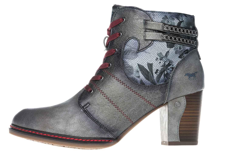 Mustang Shoes  Stiefeletten in Übergrößen Grau 1287-504-2 große Damenschuhe – Bild 2