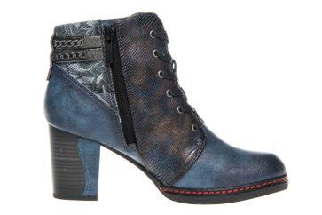 Mustang Shoes  Stiefeletten in Übergrößen Dunkelblau 1287-504-800 große Damenschuhe – Bild 4