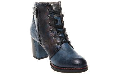 Mustang Shoes  Stiefeletten in Übergrößen Dunkelblau 1287-504-800 große Damenschuhe – Bild 5