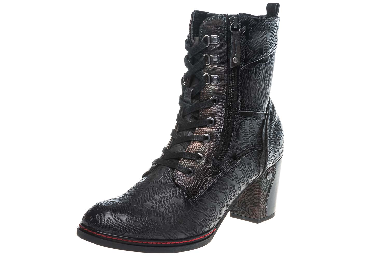 Mustang Shoes  Stiefeletten in Übergrößen Navy 1287-506-820 große Damenschuhe – Bild 1