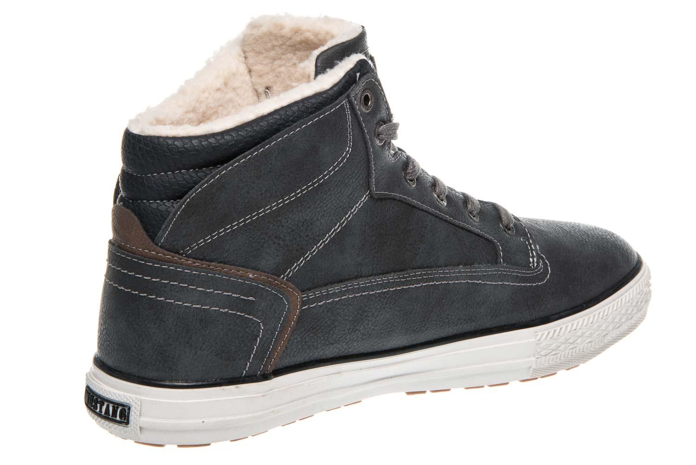 Mustang Shoes High Top Sneaker in Übergrößen Graphit 1288-601-259 große Damenschuhe – Bild 3