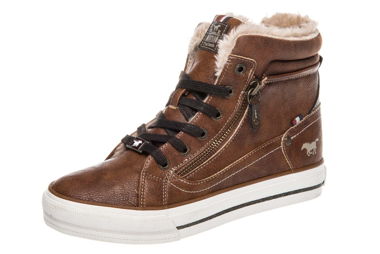 Mustang Shoes  High Top Sneaker in Übergrößen Kastanie 1288-601-301 große Damenschuhe – Bild 1