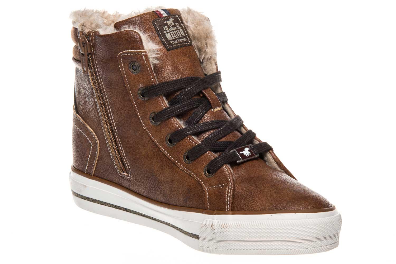 Mustang Shoes  High Top Sneaker in Übergrößen Kastanie 1288-601-301 große Damenschuhe – Bild 5