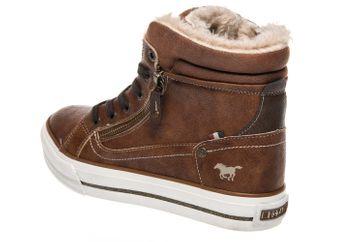 Mustang Shoes  High Top Sneaker in Übergrößen Kastanie 1288-601-301 große Damenschuhe – Bild 2