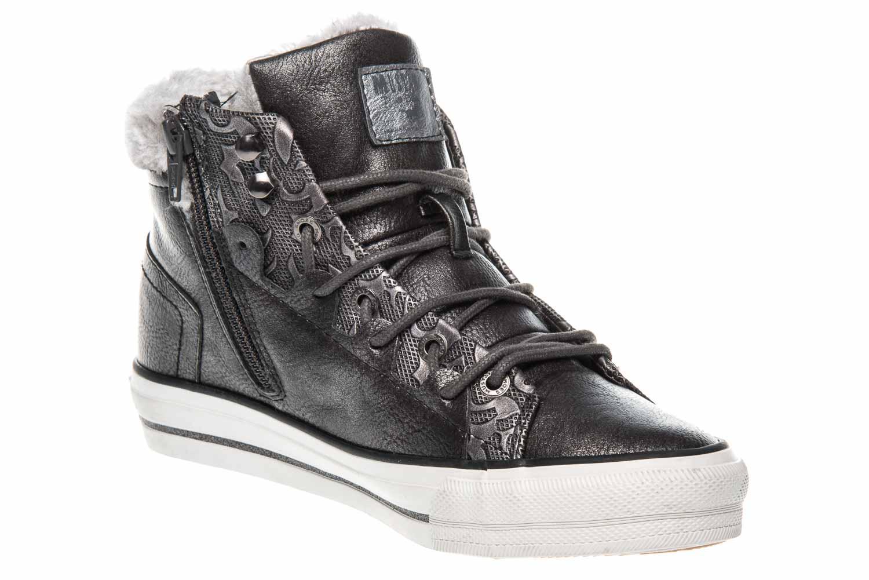 Mustang Shoes High Top Sneaker in Übergrößen Dunkelgrau 1288-603-20 große Damenschuhe – Bild 5