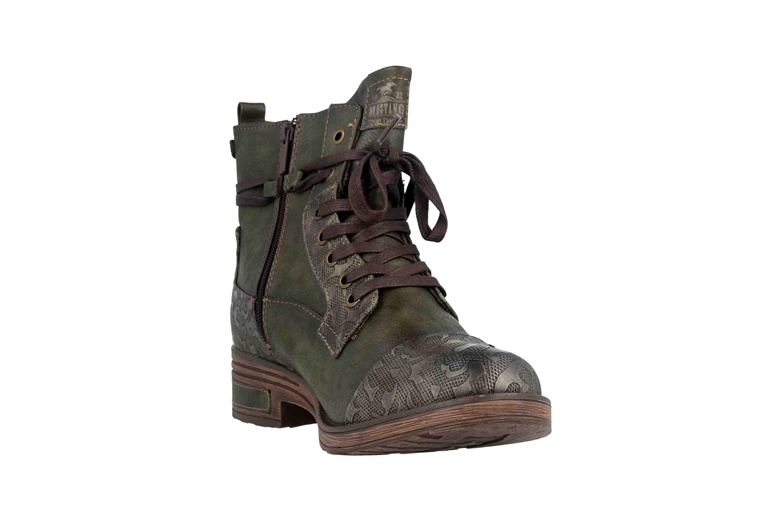 Mustang Shoes Stiefeletten in Übergrößen Oliv 1293-501-77 große Damenschuhe – Bild 5