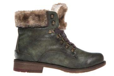 Mustang Shoes  Stiefeletten in Übergrößen Oliv 1295-601-77 große Damenschuhe – Bild 4