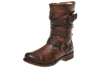 Mustang Shoes Stiefel in Übergrößen Kastanie 1295-603-301 große Damenschuhe – Bild 1
