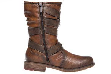 Mustang Shoes  Stiefel in Übergrößen Kastanie 1295-603-301 große Damenschuhe – Bild 4