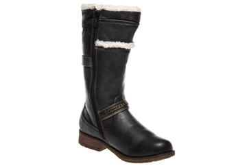 Mustang Shoes  Stiefel in Übergrößen Graphit 1295-605-259 große Damenschuhe – Bild 5