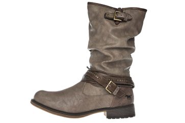 Mustang Shoes Boots in Übergrößen Taupe 1139-624-318 große Damenschuhe – Bild 2