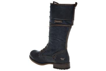 Mustang Shoes  Boots in Übergrößen Rauchblau 1139-633-259 große Damenschuhe – Bild 3
