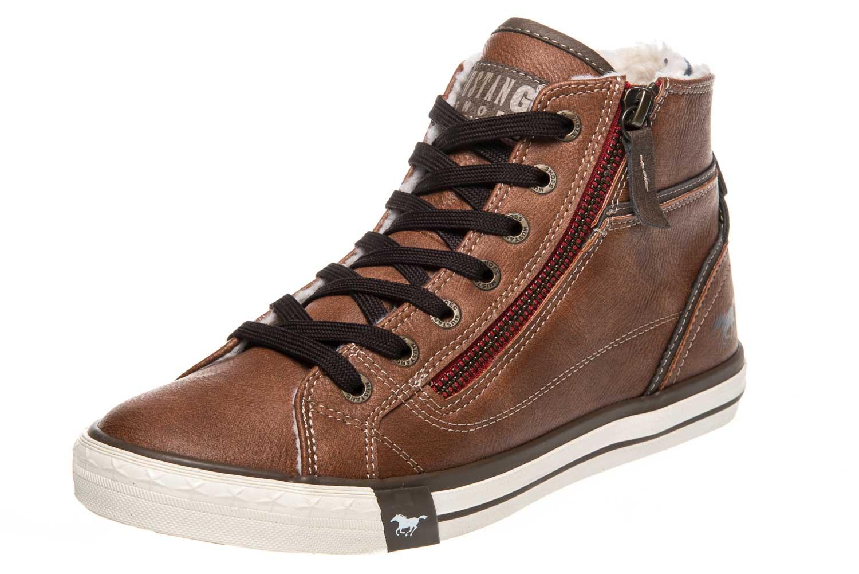 Mustang Shoes  High Top Sneaker in Übergrößen Kastanie 1209-601-301 große Damenschuhe – Bild 1