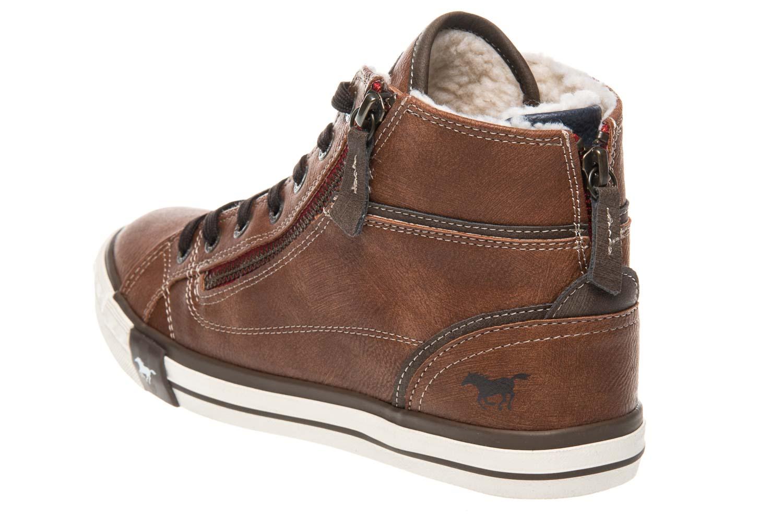 Mustang Shoes  High Top Sneaker in Übergrößen Kastanie 1209-601-301 große Damenschuhe – Bild 2