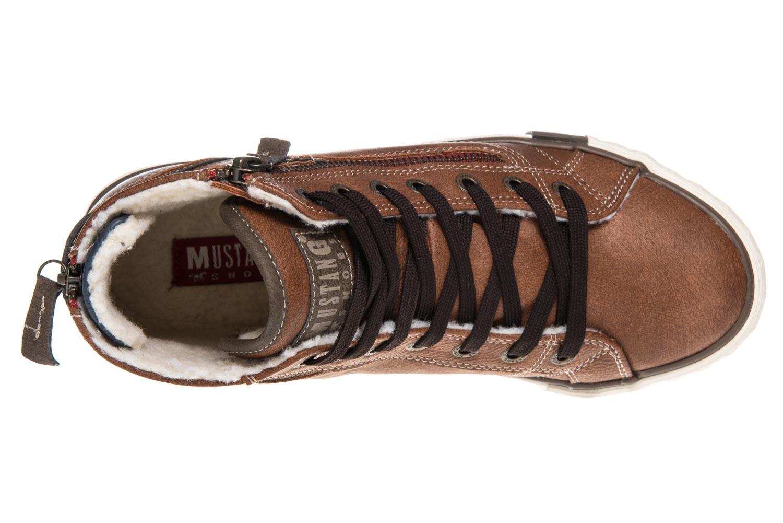 Mustang Shoes  High Top Sneaker in Übergrößen Kastanie 1209-601-301 große Damenschuhe – Bild 7