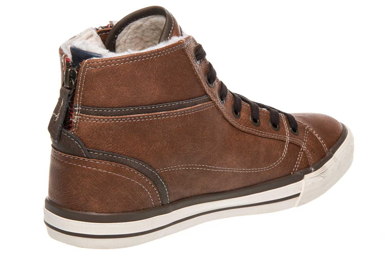 Mustang Shoes  High Top Sneaker in Übergrößen Kastanie 1209-601-301 große Damenschuhe – Bild 3