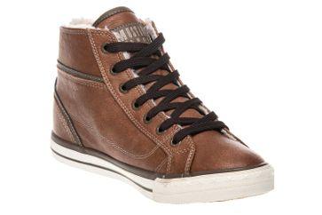 Mustang Shoes  High Top Sneaker in Übergrößen Kastanie 1209-601-301 große Damenschuhe – Bild 5