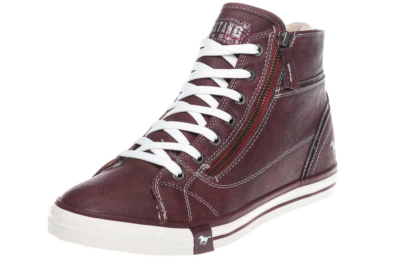 Mustang Shoes  High Top Sneaker in Übergrößen Bordeaux 1209-601-55 große Damenschuhe – Bild 1