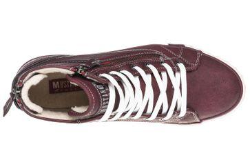 Mustang Shoes  High Top Sneaker in Übergrößen Bordeaux 1209-601-55 große Damenschuhe – Bild 8