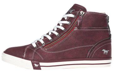 Mustang Shoes High Top Sneaker in Übergrößen Bordeaux 1209-601-55 große Damenschuhe – Bild 2