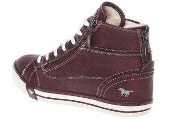 Mustang Shoes  High Top Sneaker in Übergrößen Bordeaux 1209-601-55 große Damenschuhe – Bild 3