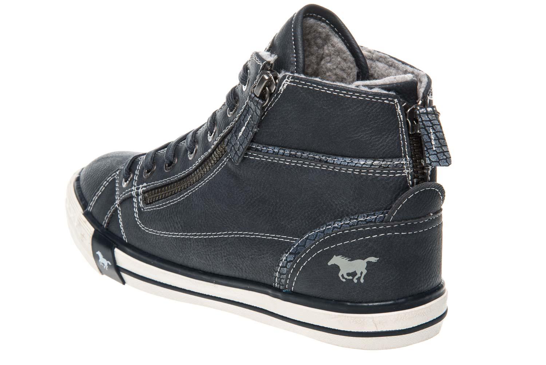 Mustang Shoes  High Top Sneaker in Übergrößen Navy 1209-601-820 große Damenschuhe – Bild 2