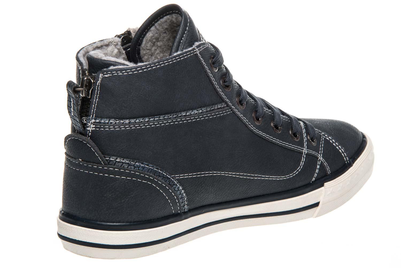 Mustang Shoes  High Top Sneaker in Übergrößen Navy 1209-601-820 große Damenschuhe – Bild 3