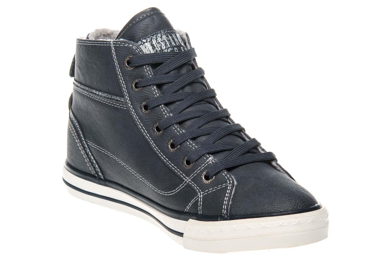 Mustang Shoes  High Top Sneaker in Übergrößen Navy 1209-601-820 große Damenschuhe – Bild 5