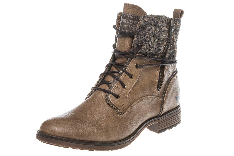 Mustang Shoes  Boots in Übergrößen Taupe 1265-504-318 große Damenschuhe – Bild 1