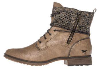 Mustang Shoes Boots in Übergrößen Taupe 1265-504-318 große Damenschuhe – Bild 2